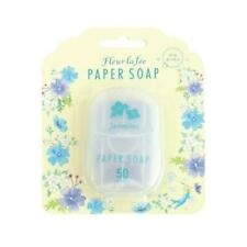 [CHARLEY SOAP] JASMINE Scented Travel Size Pocket Paper Soap 50 Sheets NEW