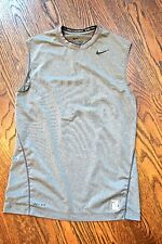 Nike Pro Combat Dri-fit fitted mens gray sleeveless shirt sz S workout exercise