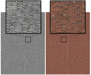 Red Brick Pattern Modelling Paper Railway Model 00 Scale 170gm Card 4 x A4