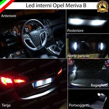 KIT FULL LED INTERNI OPEL MERIVA B CONVERSIONE COMPLETA + LUCI TARGA LED 6000K