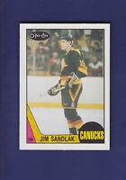 Jim Sandlak RC 1987-88 O-PEE-CHEE OPC Hockey #264 (NM) Vancouver Canucks