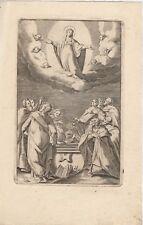 Incisione Santino Originale Madonna del 1800