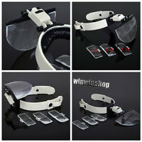 1 Set Dental Lab Hands Free Head Magnifying Glass Magnifier with LED Light