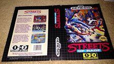 Streets of Rage 1 Original Box Art Only. NO GAME. (Sega Genesis)