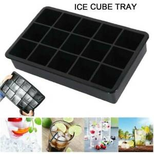 15 Stampo cubetti ghiaccio silicone grandi dimensioni Jumbo Stampo quadrato DIY