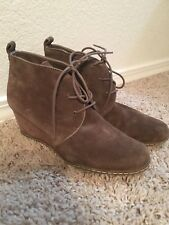 Franco Sarto Suede Leather Buckle Ankle Boots, Brown - 7.5
