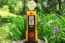 Handmade Tin Vintage Super Shell Gas Pump Model - Tinplate - Metal - Gasoline