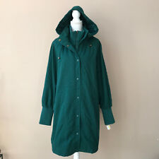 NEW Woman Within Green Cotton Lined Coat Jacket Full Figure Women's Plus L Large