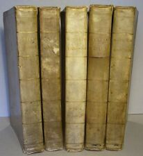 VITTORIO ALFIERI: TRAGEDIE 1794 / 1795, 5 Bde. PERGAMENT, komplett, ital. EA!