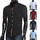 2015 Mens Luxury Casual Slim fit Stylish Dress Short Sleeve Shirt 5Colors 4Size