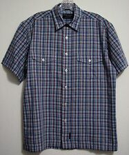 American Eagle Outfitters Small Axle Button S/S Shirt Madras Plaid 2 Pockets