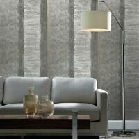Modern Striped Wallpaper rustic gray lines Textured faux vintage rug stripes 3D