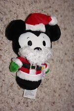 "Hallmark ITTY BITTYS Mickey Mouse Santa Claus 6"" Plush Stuffed Animal NWOT   #T2"