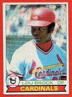 1979 Topps #665 Lou Brock EX-EX+ WRINKLE Hall of Fame St. Louis Cardinals