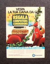 I902- Advertising Pubblicità - 1984 - VESPA PX125 PIAGGIO REGALA COMMODORE VIC20