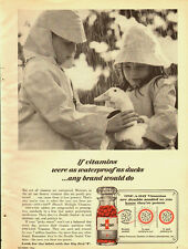 1964 Vintage ad for One A Day Multiple Vitamins~Children/Raincoats/Duck (083013)