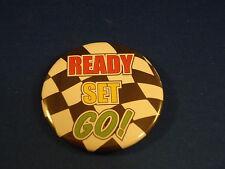 """Ready Set Go!"" Lot of 3 Buttons pins pinback 2 1/4"" Car Racing Nascar auto race"