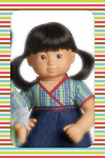 American Girl Doll Bitty Twins GiRL Twin Only Asian light Skin Black Hair