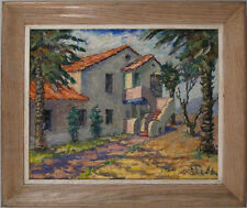 American? Spanish? French? 1950's Oil Southern Landscape Illegibly Signed qqoo