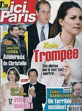 ICI PARIS N° 3570--KATE MIDLETON/LAURENT GERRA/GAD & CHARLOTTE/BARBELIVIEN