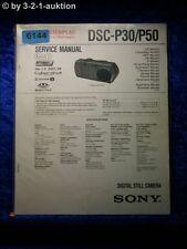 Sony Service Manual Dsc P30/P50 Level 2 Digital Still Camera (#6144)