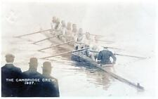Cambridge Crew 1907 Rowing Boat Race Team ? sepia RP old pc used 1907 Putney