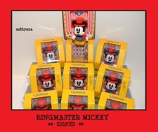 """VINYLMATION 3"""" ★ MICKEY'S CIRCUS EVENT ★ RINGMASTER MICKEY ★ SIGNED ★ LE 1500 ★"""