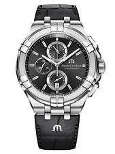 AUTHORIZED DEALER Maurice Lacroix Aikion AI1018-SS001-330-1 Black Leather Watch