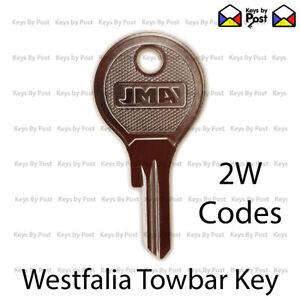WESTFALIA DETACHABLE TOWBAR KEY (2W Codes) Spare Keys Fast shipping.