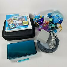 Nintendo 3DS Console Aqua Teal Blue with 4 Games, Charger, & Case - Skylanders