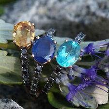 Gute Diamanten Ringe mit Saphir-Hauptstein