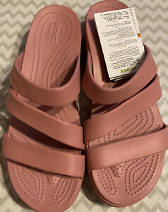 CROCS Monterey Scrappy Wedge (Blossom Color) Size 10 Wide NWT!