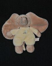 Peluche Doudou Elephant NOUKIES NOUKIE'S NOUKY Beige Jaune 13 Cm TTBE