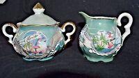 Vintage Kenmar Dragonware Japan Miniature Sugar & Creamer Set  Florida