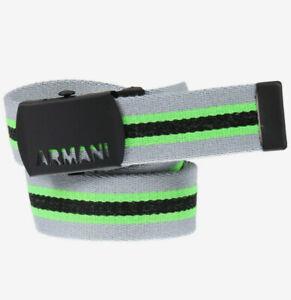 Armani Collezioni Junior Stripes 401003 Belt Acid Lime Multicolour XL