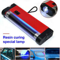 UV Cure Lamp Ultraviolet UV Light For Car Auto Glass Windshield Repair Kit Red