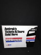 "1980's 14 1/4"" Amtrak Tickets & Tours Sign"