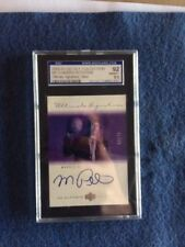 Morris Peterson  2000-01  UD Ultimate collection signatures silver SGC Graded 92