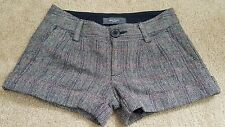 Juniors Old Navy wool blend multi color shorts size 0 cuffed