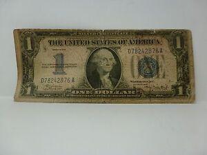 1934 $1 SILVER CERTIFICATE (FUNNY BACK) FR 1606 #4