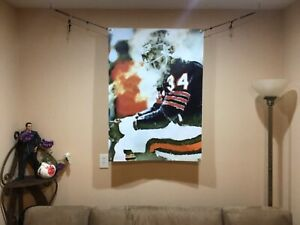 BIG! 43x30 WALTER PAYTON vinyl Banner POSTER Chicago Bears Gale Sayers Man Cave