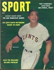 June 1958 Sport Magazine - Willie Mays San Francisco Giants Warren Spahn Braves