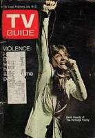 1972 TV Guide July 15-David Cassidy - Partridge Family; Curt Gowdy; Susan Silver