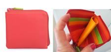 "MYWALIT zip wallet - ""Jamaica"" - red and multi - new in original package"