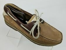 Sperry Top-Sider Stingray Collection Mens Boat Shoes 2 Tone Tan Nubuck Sz 11.5