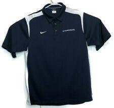 Nike Ncaa Champions Blue L Polo Short Sleeve Mens Shirt Dri Fit Basketball