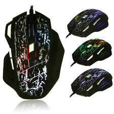 UK 5500DPI 8D BEITAS X3 Molten Optical 7 Buttons Usb Gaming Mouse WOW RAZER LOL