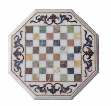 Marble Chess game Coffee Table Top Pietra Dura Work Home Decor