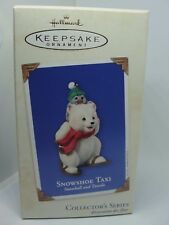 2003, SNOWSHOE TAXI, SNOWBALL & TUXEDO #3,  HALLMARK KEEPSAKE ORNAMENT
