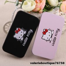 KIT 7 PCS PINCEAUX MAQUILLAGE BROSSE NOIR OU ROSE HELLO KITTY